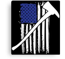 Cool 'Distressed American Flag and Fire Axe' T-shirts, Hoodies, Accessories and Gifts Canvas Print