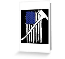 Cool 'Distressed American Flag and Fire Axe' T-shirts, Hoodies, Accessories and Gifts Greeting Card