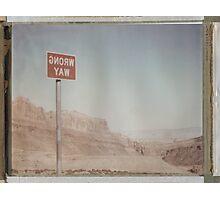 Wrong Way Nevada (8x10 Polaroid) Photographic Print