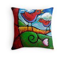 THE LOVEBIRDS SONG Throw Pillow
