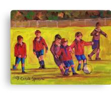 SOCCER GAME  Canvas Print