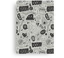 Gloom & Doom pattern Canvas Print