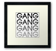 Chief Keef GANG GANG GANG Framed Print