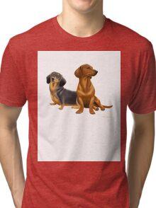 Dachshund Doxie Dogs Tri-blend T-Shirt
