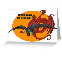 Toothless and Smaug - Dragon Crossover Greeting Card