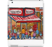BEST SELLING MONTREAL PRINTS SCHWARTZ'S DELI MONTREAL ART BY CANADIAN ARTIST CAROLE SPANDAU iPad Case/Skin