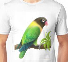 Masked Lovebird Green Unisex T-Shirt