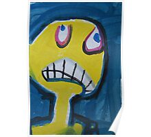 Troy - Graphic Yellow Face With Blue Background Poster