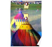 Hot Air Balloons in Reflection Poster