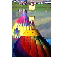 Hot Air Balloons in Reflection Photographic Print