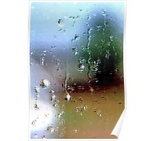 Rainy Window Abstract 1 Poster