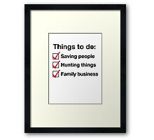 To do List Framed Print