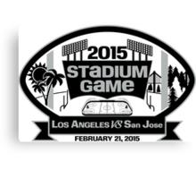 2015 LA Stadium Game - Black Text Canvas Print