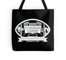 2015 Stadium Game - White Text Tote Bag
