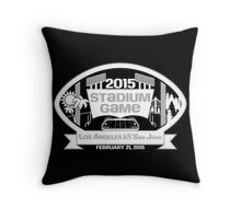 2015 Stadium Game - White Text Throw Pillow