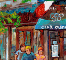CANADIAN ART MONTREAL CAFES CANADIAN PAINTINGS BY CANADIAN ARTIST CAROLE SPANDAU Sticker
