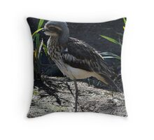 Bush Stone Curlew - Quindalup Fauna Park Throw Pillow