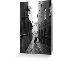 Last Walk in the Rain Greeting Card