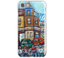 CANADIAN PAINTINGS CANADIAN HOCKEY ART OUR NATIONAL PASTIME iPhone Case/Skin