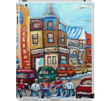 CANADIAN PAINTINGS CANADIAN HOCKEY ART OUR NATIONAL PASTIME iPad Case/Skin