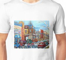 CANADIAN PAINTINGS CANADIAN HOCKEY ART OUR NATIONAL PASTIME Unisex T-Shirt