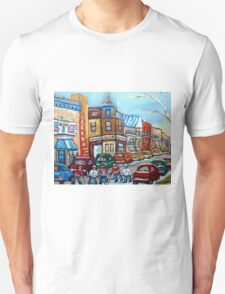 CANADIAN PAINTINGS CANADIAN HOCKEY ART OUR NATIONAL PASTIME T-Shirt