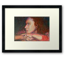 Self Portrait In Profile Framed Print
