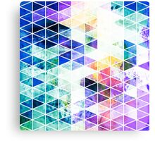 Grungy Bright Triangle Pattern Canvas Print