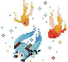 Hatsune Miku - Swimming with Fishes by fayezfaye