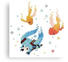 Hatsune Miku - Swimming with Fishes Metal Print