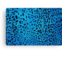 Leopard blue Canvas Print