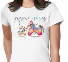 Magic Merry Go Round Ponies TShirt Womens Fitted T-Shirt