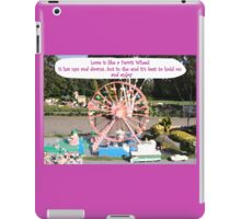 Love is like a Ferris Wheel iPad Case/Skin