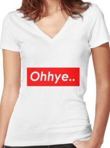 Ohhye.. Women's Fitted V-Neck T-Shirt
