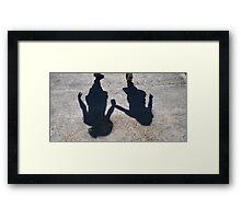 Hold my hand... Framed Print