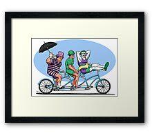 Bat Baddies Biking By the Beach Framed Print