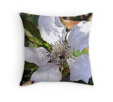 Blackberry Blossom Throw Pillow