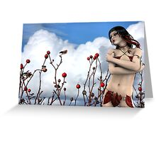 Tears of a Wild Rose - Rose & Rhana Griffin Greeting Card