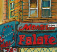 CANADIAN CITY SCENES MONTREAL ART BY CANADIAN ARTIST CAROLE SPANDAU Sticker