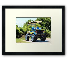 Two Tone Golf Cart Framed Print