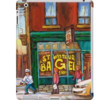 CANADIAN PAINTINGS BY CANADIAN ARTIST OF MONTREAL WINTER SCENES iPad Case/Skin