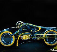 C.L.U.'s Lightcycle by createdtocreate