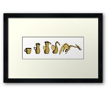 Coffee Evolution Framed Print