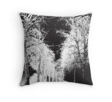 WOODED PATH Throw Pillow