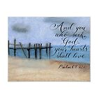 Beach pastel drawing with inspirational art design by Melissa Goza