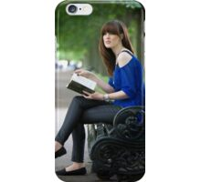 A day out in Greenwich - the park bench iPhone Case/Skin