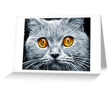 Demon Eyes Greeting Card