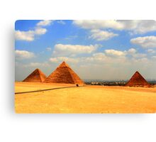 The Giza Plateau Canvas Print