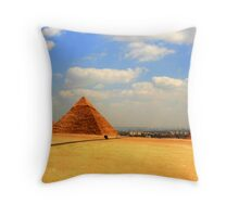 The Giza Plateau Throw Pillow