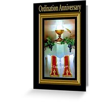 Anniversary of priest celebrating  Ordination Day Greeting Card